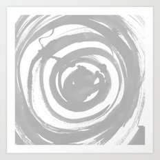 Swirl Pale Gray Art Print