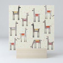Llamas in the Meadow Mini Art Print