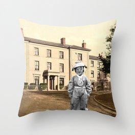 Child Astronaut Throw Pillow