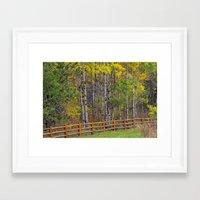 ashton irwin Framed Art Prints featuring Ashton Idaho - Autumn Time by IMAGETAKERS