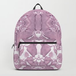 Shibori Rose Crepe De Chine Backpack