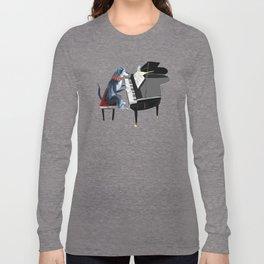 Piano lesson ( Doggy Art ) Long Sleeve T-shirt
