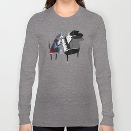 Piano lesson with Angel Long Sleeve T-shirt