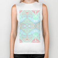 marble Biker Tanks featuring Marble by Amélie Haeck