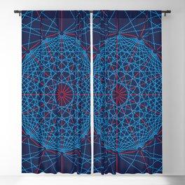 Geometric Circle Blue/Red Blackout Curtain