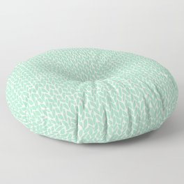 Hand Knit Mint Floor Pillow
