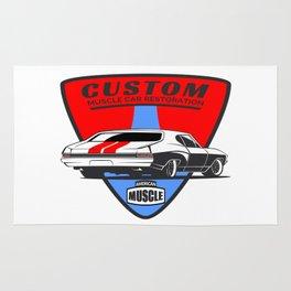 Custom Muscle Car Rug