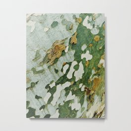 Green Bark Metal Print
