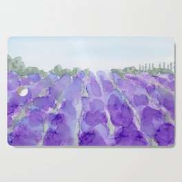 lavender farm Cutting Board