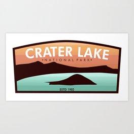 Crater Lake Badge Art Print