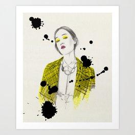 Yellow Jacket Art Print