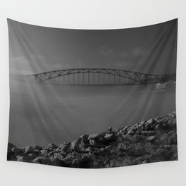 Julian Dubuque Bridge and the Mississippi River Wall Tapestry