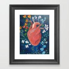 Frida´s Heart Framed Art Print