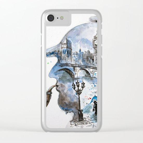 Mr. Sherlock Clear iPhone Case