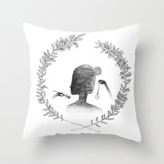 Watching the Time Throw Pillow