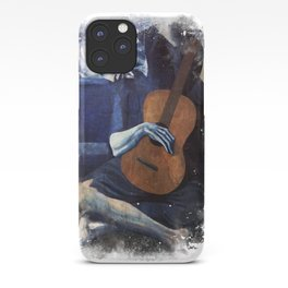Pablo Picasso The Old Guitarrist 1903 Grunge Artwork Shirt, Reproduction iPhone Case
