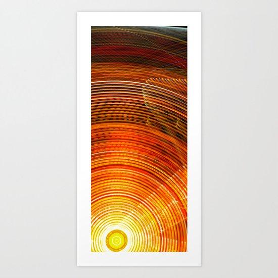 Electric Sun Art Print