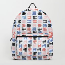White Checkered Backpacks | Society6