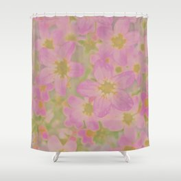 Pink Floral, The Earth Laughs In Flowers Shower Curtain