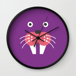 Purple Walrus Wall Clock