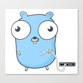 Golang - gopher wizard Canvas Print