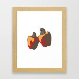 Cashew Fruit Framed Art Print
