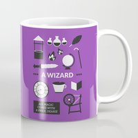 ouat Mugs featuring OUAT - A Wizard by Redel Bautista