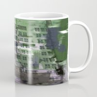 houston Mugs featuring Downtown Houston by TheBigBear