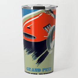 Retro style auto Grand Prix Rivièra Travel Mug
