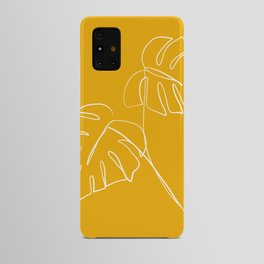Monstera minimal - yellow Android Case