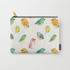 Watercolor Birds Pattern Carry-All Pouch