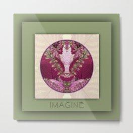 Imagine Manifestation Mandala No. 3 Metal Print