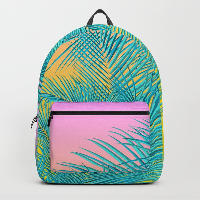 Summer Palm Leaves Backpack
