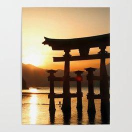 Itsukushima Shrine on Miyajima, Japan Poster
