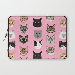 Cute Cat breed faces smiling kitten must have gifts for cat lady cat man cat lover unique pets Laptop Sleeve