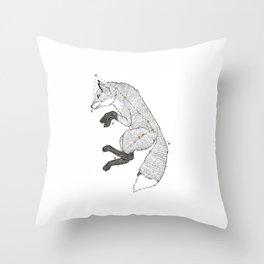 Canis Major Fox Throw Pillow