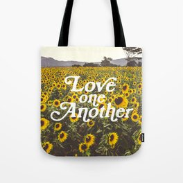 Love One Another Sunflowers Tote Bag