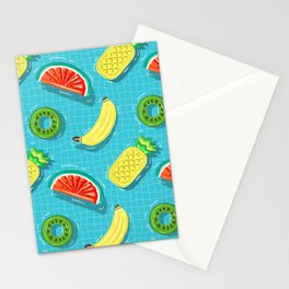 Pool Party pineapple, watermelon,banana,kiwi Stationery Cards
