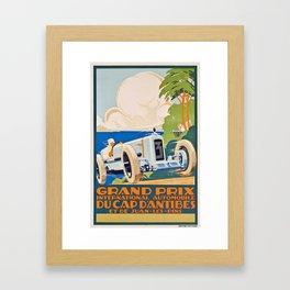 French Vintage Grand Prix poster Framed Art Print