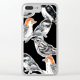 Black Birds Clear iPhone Case