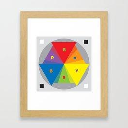 Color wheel by Dennis Weber / Shreddy Studio with special clock version Framed Art Print
