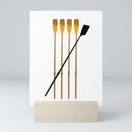 Rowing Oars 3 Mini Art Print