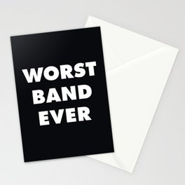 Worst Band Ever Stationery Cards