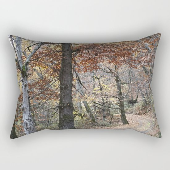 Into the fall woods. Yesterday Rectangular Pillow