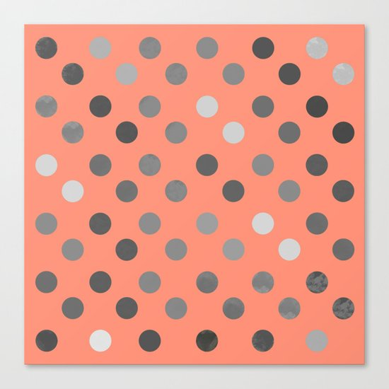 Polka Proton Pink Canvas Print