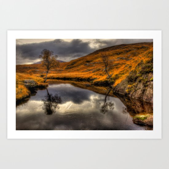 The Pool of Autumn Art Print