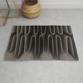 Industrial Waves   Metal Abstract  Rug