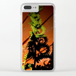 Twists and Ferns Clear iPhone Case