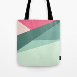 Modern abstract pastel pink green geometrical colorblock Tote Bag