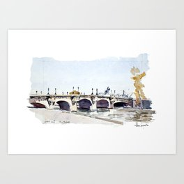 Le Pont Neuf Art Print